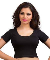 Black Color Cotton Lycra Readymade Stretchable Blouses (34,36,38,40,42): Nirtisha Collection  YF-42499