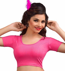 Light pink Color Cotton Lycra Readymade Stretchable Blouses (34,36,38,40,42): Nirtisha Collection  YF-42534