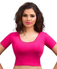Pink Color Cotton Lycra Readymade Stretchable Blouses (34,36,38,40,42): Nirtisha Collection  YF-42559