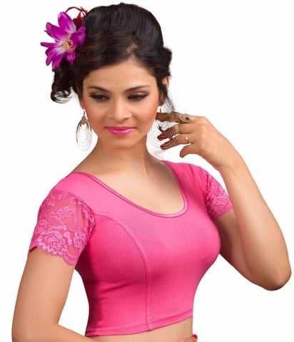 Light pink Color Cotton Lycra Readymade Stretchable Blouses (34,36,38,40,42): Nirtisha Collection  YF-42589