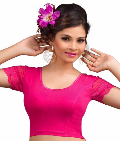 Pink Color Cotton Lycra Readymade Stretchable Blouses (34,36,38,40,42): Nirtisha Collection  YF-42609