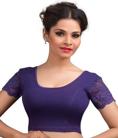 Purple Color Cotton Lycra Readymade Stretchable Blouses (32,34,36,38,40,42): Krishma Collection  YF-44787