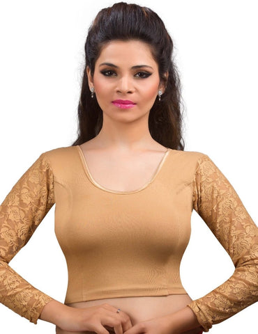 Dark gold Color Cotton Lycra Readymade Stretchable Blouses (34,36,38,40,42): Nirtisha Collection  YF-42619