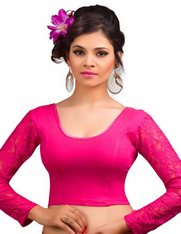 Pink Color Cotton Lycra Readymade Stretchable Blouses (34,36,38,40,42): Nirtisha Collection  YF-42644