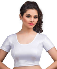 Silver Color Cotton Lycra Readymade Stretchable Blouses (34,36,38,40,42): Nirtisha Collection  YF-42674