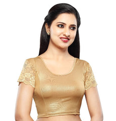 Copper Color Cotton Lycra Readymade Stretchable Blouses (34,36,38,40,42): Nirtisha Collection  YF-42679
