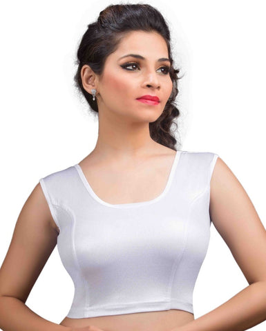 Silver Color Cotton Lycra Readymade Stretchable Blouses (34,36,38,40,42): Nirtisha Collection  YF-42714