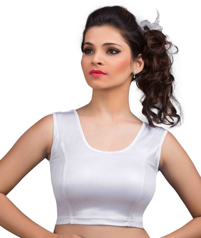 Silver Color Cotton Lycra Readymade Stretchable Blouses (34,36,38,40,42): Nirtisha Collection  YF-42734