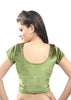 Mehendi-green Color Strech Velvet Stretchable Daily Wear Blouses (Fits From 30 To 36 ): Samita Collection  YF-40056