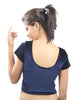 Navy-blue Color Strech Velvet Stretchable Daily Wear Blouses (Fits From 30 To 36 ): Samita Collection  YF-40057