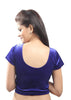 Royal-blue Color Strech Velvet Stretchable Daily Wear Blouses (Fits From 30 To 36 ): Samita Collection  YF-40059