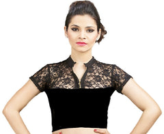 Black Color Cotton Lycra Stretchable Party Wear Blouses (32,34,36): Kshitija Collection  YF-41810