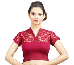 Maroon Color Cotton Lycra Stretchable Party Wear Blouses (32,34,36): Kshitija Collection  YF-41813