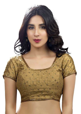 copper Color Dupion Silk Readymade Function Wear Blouses ( Sizes - 32, 34, 36, 38, 40, 42 ): Samita Collection  YF-38598