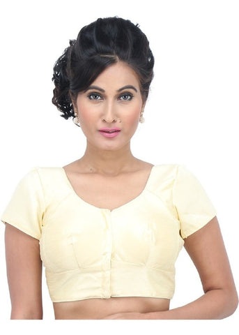 cream Color Dupion Silk Readymade Function Wear Blouses ( Sizes - 32, 34, 36, 38, 40, 42 ): Samita Collection  YF-38760