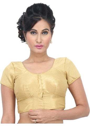 gold Color Dupion Silk Readymade Function Wear Blouses ( Sizes - 32, 34, 36, 38, 40, 42 ): Samita Collection  YF-38766