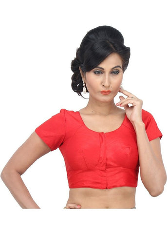red Color Dupion Silk Readymade Function Wear Blouses ( Sizes - 32, 34, 36, 38, 40, 42 ): Samita Collection  YF-38784