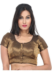 black Color Brocade Readymade Function Wear Blouses ( Sizes - 32, 34, 36, 38, 40, 42 ): Samita Collection  YF-38820