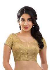 gold Color Brocade Readymade Function Wear Blouses ( Sizes - 32, 34, 36, 38, 40, 42 ): Samita Collection  YF-38838