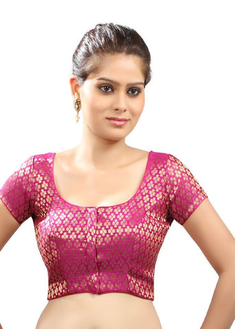 pink Color Brocade Readymade Function Wear Blouses ( Sizes - 32, 34, 36, 38, 40, 42 ): Samita Collection  YF-38874