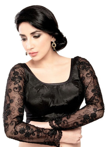 black Color Fancy Readymade Function Wear Blouses ( Sizes - 32, 34, 36, 38, 40, 42 ): Samita Collection  YF-38916