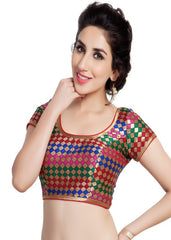 multi Color Brocade Readymade Function Wear Blouses ( Sizes - 32, 34, 36, 38, 40, 42 ): Samita Collection  YF-38976