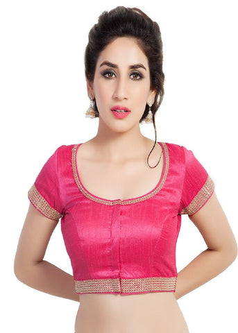 pink Color Dupion Silk Readymade Function Wear Blouses ( Sizes - 32, 34, 36, 38, 40, 42 ): Samita Collection  YF-39000