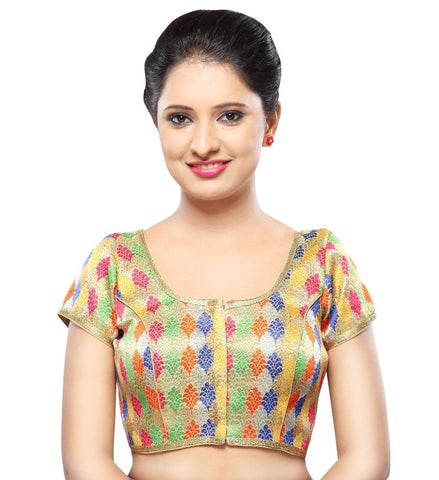 Multi Color Brocade Readymade Party Wear Blouses (32,34,36,38,40,42): Sanjana Collection  YF-41847