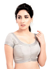 silver Color Tissue Readymade Function Wear Blouses ( Sizes - 32, 34, 36, 38, 40, 42 ): Samita Collection  YF-39030