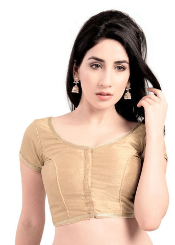 gold Color Brocade Readymade Function Wear Blouses ( Sizes - 32, 34, 36, 38, 40, 42 ): Samita Collection  YF-39048