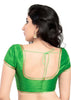 parrot-green Color Brocade Readymade Function Wear Blouses ( Sizes - 32, 34, 36, 38, 40, 42 ): Samita Collection  YF-39084