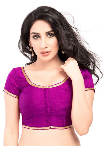 purple Color Brocade Readymade Function Wear Blouses ( Sizes - 32, 34, 36, 38, 40, 42 ): Samita Collection  YF-39096