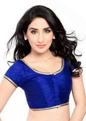 royal-blue Color Brocade Readymade Function Wear Blouses ( Sizes - 32, 34, 36, 38, 40, 42 ): Samita Collection  YF-39114