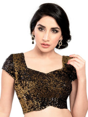 Black Color Velvet Readymade Party Wear Blouses (32,34,36,38,40,42): Safeena Collection  YF-51267