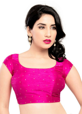 pink Color Dupion Silk Readymade Function Wear Blouses ( Sizes - 32, 34, 36, 38, 40, 42 ): Samita Collection  YF-39174