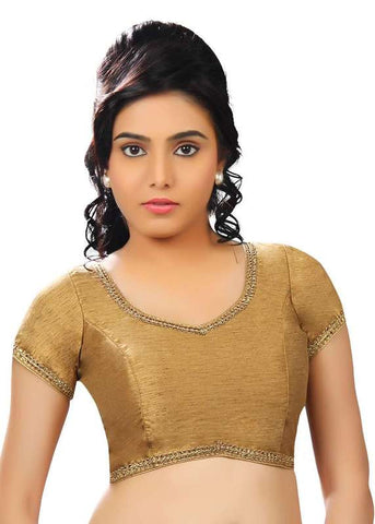 copper Color Dupion Silk Readymade Function Wear Blouses ( Sizes - 32, 34, 36, 38, 40, 42 ): Samita Collection  YF-39198