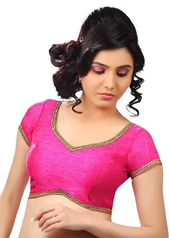 pink Color Dupion Silk Readymade Function Wear Blouses ( Sizes - 32, 34, 36, 38, 40, 42 ): Samita Collection  YF-39264