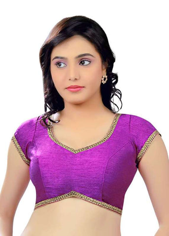 purple Color Dupion Silk Readymade Function Wear Blouses ( Sizes - 32, 34, 36, 38, 40, 42 ): Samita Collection  YF-39270