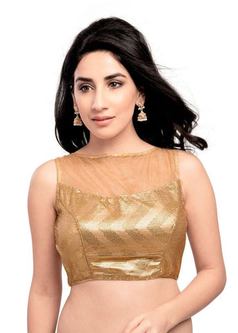 gold Color Sequence Readymade Function Wear Blouses ( Sizes - 32, 34, 36, 38, 40, 42 ): Samita Collection  YF-39288