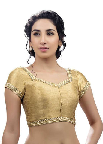 gold Color Dupion Silk Readymade Function Wear Blouses ( Sizes - 32, 34, 36, 38, 40, 42 ): Samita Collection  YF-39318