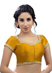 mustard Color Dupion Silk Readymade Function Wear Blouses ( Sizes - 32, 34, 36, 38, 40, 42 ): Samita Collection  YF-39342