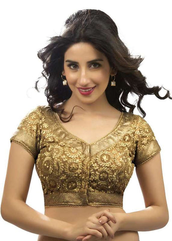 copper Color Fancy Readymade Function Wear Blouses ( Sizes - 32, 34, 36, 38, 40, 42 ): Samita Collection  YF-39372