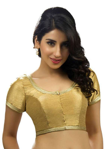 gold Color Dupion Silk Readymade Function Wear Blouses ( Sizes - 32, 34, 36, 38, 40, 42 ): Samita Collection  YF-39408