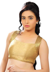 gold Color Dupion Silk Readymade Function Wear Blouses ( Sizes - 32, 34, 36, 38, 40, 42 ): Samita Collection  YF-39468