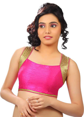 pink Color Dupion Silk Readymade Function Wear Blouses ( Sizes - 32, 34, 36, 38, 40, 42 ): Samita Collection  YF-39510