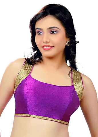 purple Color Dupion Silk Readymade Function Wear Blouses ( Sizes - 32, 34, 36, 38, 40, 42 ): Samita Collection  YF-39516