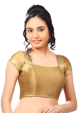 copper Color Dupion Silk Readymade Function Wear Blouses ( Sizes - 32, 34, 36, 38, 40, 42 ): Samita Collection  YF-39546