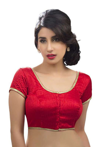 red Color Dupion Silk Readymade Function Wear Blouses ( Sizes - 32, 34, 36, 38, 40, 42 ): Samita Collection  YF-39564