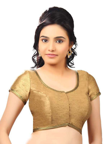 copper Color Dupion Silk Readymade Function Wear Blouses ( Sizes - 32, 34, 36, 38, 40, 42 ): Samita Collection  YF-39576