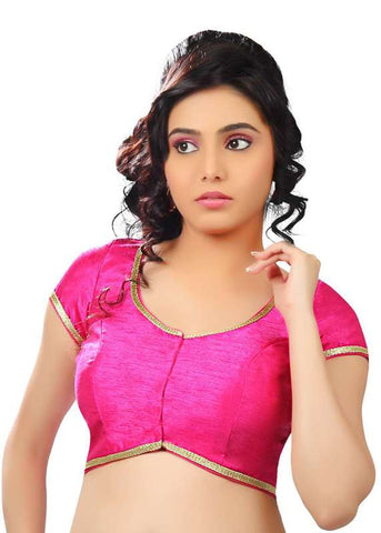 pink Color Dupion Silk Readymade Function Wear Blouses ( Sizes - 32, 34, 36, 38, 40, 42 ): Samita Collection  YF-39600